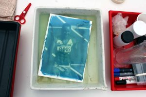 Cyanotype - rinsing