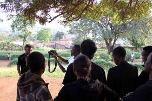 A class with the Ghetto Film Project, Uganda