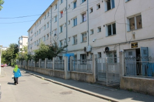 Outside the Regional Centre for Accommodation and Procedures for Asylum Seekers, Bucharest