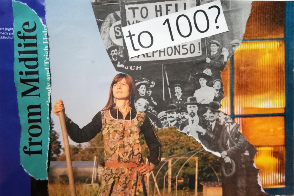 Midlife protest - collage by Anna Patton